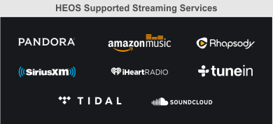 Heos streaming services